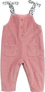 مارك جوني ليتل جيرلز كوردروي أزياء الخريف الصوف للبنات الرضع سويلد لون لطيف حزام السراويل