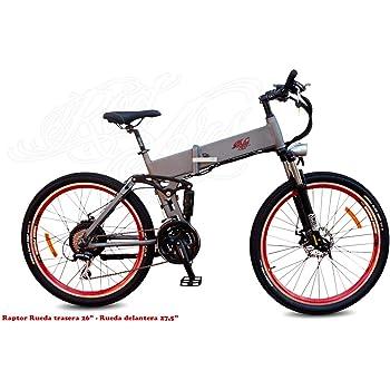 MTB eBike Pedelec Bicicleta Eléctrica de Montaña Plegable Doble Suspensión Raptor 27,5