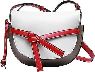 Heshe Womens Leather Handbags Shoulder Handbag Saddle Bag Fashion Bags Cross Body Bag for Office Lady