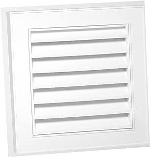 Duraflo 626043-00 12-Inch Square Gable Vent, White
