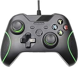 HNQH Controle com fio para Xbox One, joystick de jogo com vibração dupla com porta de fone de ouvido de 3,5 mm para PC Win...