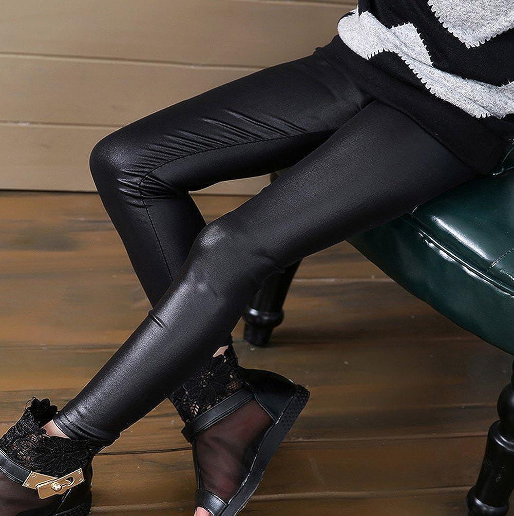 In leggings mädchen leder Außergewöhnlich stilvolles