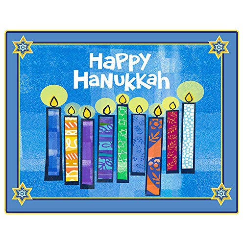Happy Hanukkah Paper Placemat (8 Count) by Partypro