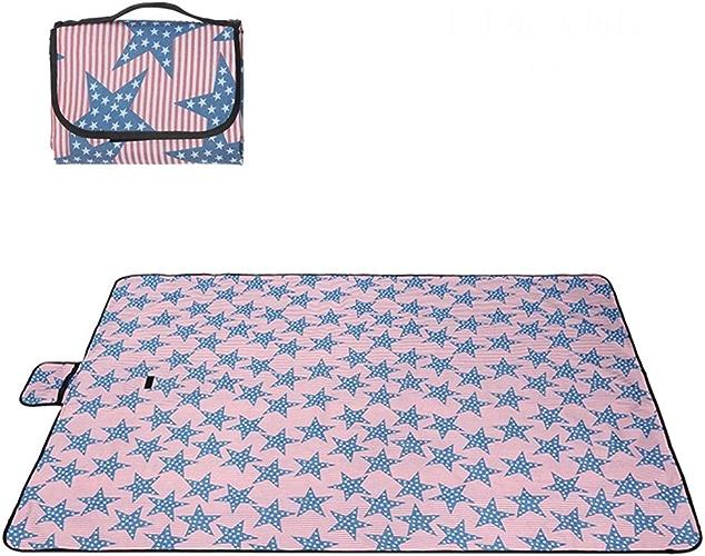 Oxford Tissu Couverture De Pique-Nique En Plein Air Pliable étanche Sandproof Tapis De Plage Tapis De Pique-Nique Camping Avec Poignée Tapis De Pique-Nique Tapis KKY-ENTER (Taille   200  190cm)