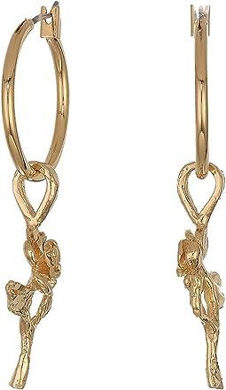 Little Rose Hoops Earrings