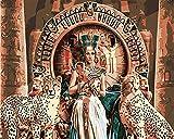 Pintar Cuadros Por Numeros Adultos Guepardo De Mujer Egipcia Antigua Diy Pintura Al Óleo Kit Lienzos Niños Y Principiantes Acrilicas Cuadros Manualidades Decoracion Regalo 40X50Cm(Sin Marco)