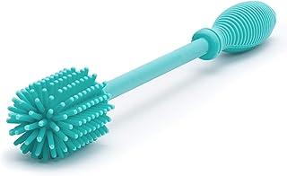 "Chicco Silicone Bottle Brush 9.5"" Long, BPA-Free, Comfort Grip Handle, Dishwasher & Sterilizer Safe - Teal"