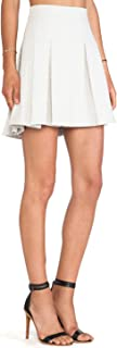 Derek Lam 10 Crosby Quilted Box Pleat Short Ivory Cotton Skirt w Pockets - 6