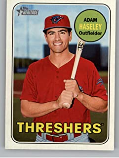 2018 Topps Heritage Minor League #131 Adam Haseley Clearwater Threshers Baseball Card