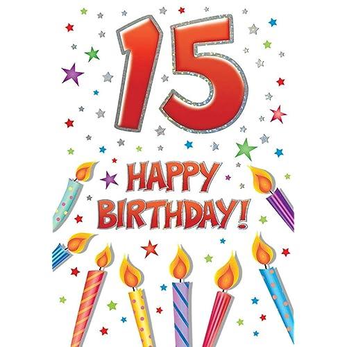 15th Birthday Card: Amazon.co.uk