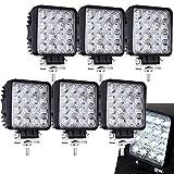 6 X 48W Quadrat LED Offroad Flutlicht Reflektor...