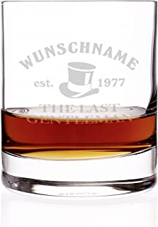Herz & Heim Bar Whisky Glas mit gratis Gravur - Name - Motive: The Last Gentleman -