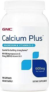 GNC CALCIUM PLUS WITH MAGNESIUM & VITAMIN D-3 600MG