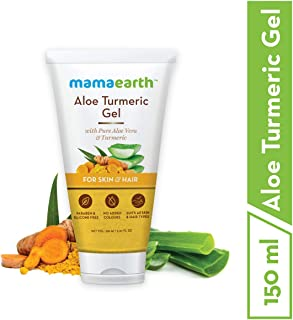 Mamaearth Aloe Turmeric Gel From 100% Pure Aloe Vera For Face, Skin & Hair with Turmeric & Vitamin E (150 Ml)