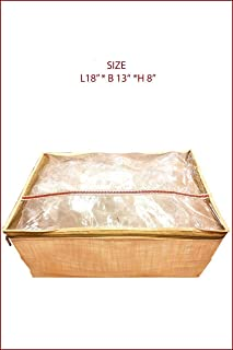 5 Pack/SARI-SAREE/LEHENGA COVER-BAGS-PACKAGING-STORAGE ONE SIDE CLOTH CLEAR (5)