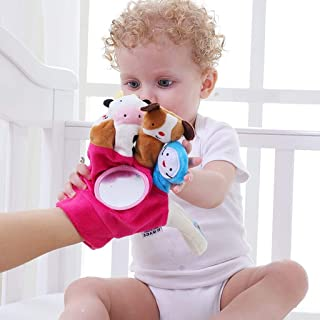 Bingcute Hand Finger Plush Puppets Glove, Animal Finger Puppet for Children Early Education Toys for New Born Baby Baby Ea...