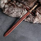 AEVVV Toy Wood Medieval Knights Sword for Kids 23 in - Wooden Prop Sword Outdoor Play Toy Weapons - Hand-Made Toys Unsharpened Safe Training Dagger for Children 5 and Up