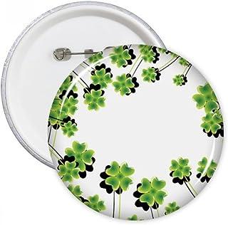 DIYthinker Trèfle à quatre feuilles Cercle Ombre Irlande ronde Journée St.Patrick Pins Badge Bouton Vêtements Décoration c...
