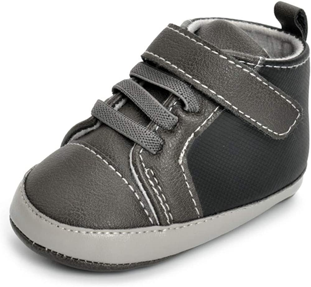 TSAITINTIN Infant Baby Boys Canvas Shoes Soft Sole Toddler Slip On Newborn Crib Moccasins Casual Sneaker