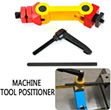 LianDu CNC Milling Machine Locator Positioner, 5 Axis Mill Work Stop Tool Locator, Milling Vise Part Work Stop Locator, Adjustable Height and Angle