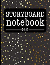 Storyboard Notebook 16:9: Filmmaker Notebook With Gold Stars Design To Sketch And Write Out Scenes With Easy-To-Use Template