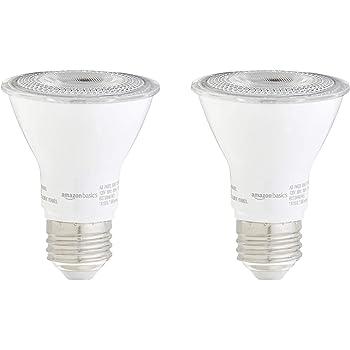 40/° Warm White Pack of 4 40/° UL Approved LED 7.2 WattDimmable Wide Flood Light Bulb LED 7.2 WattDimmable Wide Flood Light Bulb 3000K 520 Lumens E26 Medium Base 50 Watt Equivalent SleekLighting Par 20