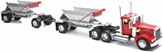 New Ray Toys New 1:32 NEWRAY Truck & Trailer Collection - Kenworth W900 Double Belly Dump Truck Diecast Model