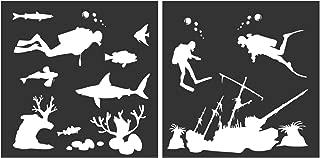 underwater stencils walls