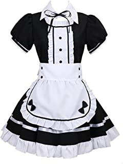 Colorful House Women's Cosplay French Apron Maid Fancy Dress Costume