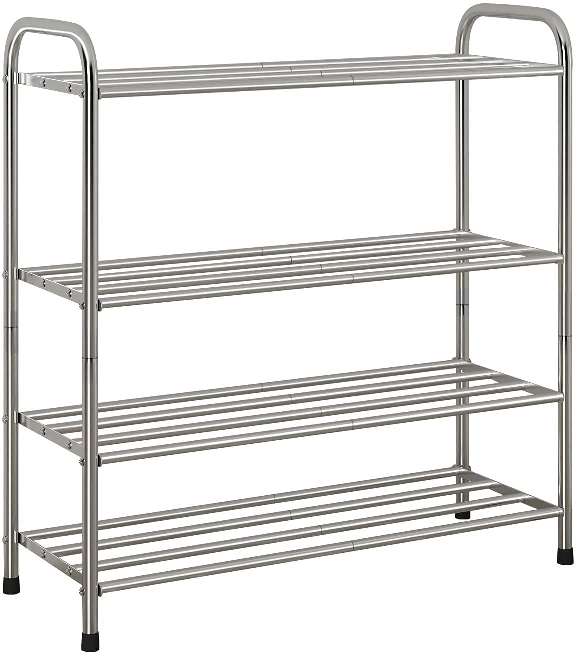 Ranking TOP10 AISPUTIN 4-Tier Stackable Max 48% OFF Shoe Rack f Stainle Steel Shelves