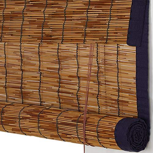 LIANGJUN bamboe gordijn rolgordijn rolgordijn type riet strip trektouw gesneden uit rolluiken zonnebrandcrème Balkon, maat aanpassen