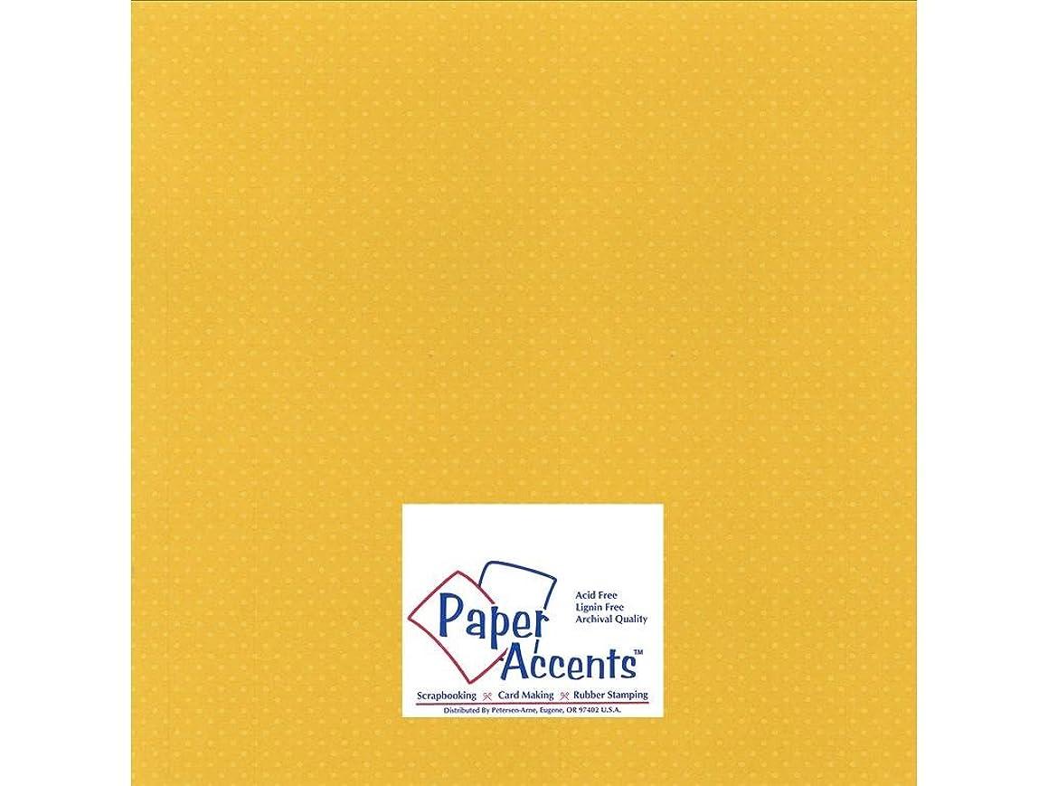 Accent Design Paper Accents Cdstk Mini Dots 12x12 80# Daffodil