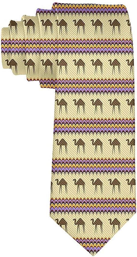 Men's Desert Camel Necktie Tie Silk Necktie Neck Ties Elegant Neckties
