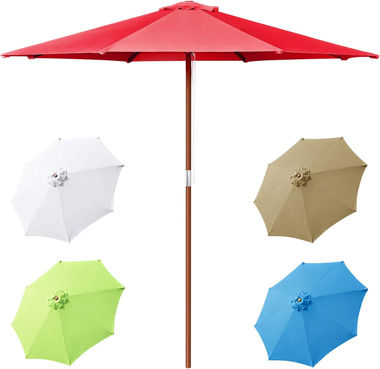 9ft Patio Clearance SALE! Limited time! Umbrella Outdoor Classic Umbrellas Ma Denver Mall Table Wood