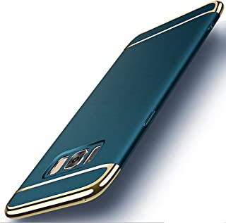 CROSYMX Galaxy S8 Case, 3 in 1 Hybrid Hard Plastic Case Ultra Thin and Slim Anti-Scratch Matte Finish Back Cover for Samsung Galaxy S8 (5.8'')(2017) - Dark Green