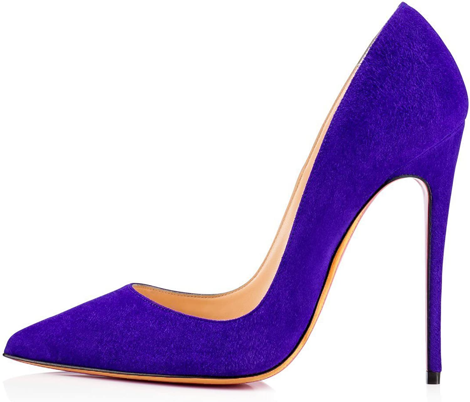 Nansay Women's shoes Stiletto Pumps Big Size Ladies shoes Solid Pointed Toe Pumps for Party Prom