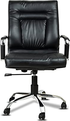 Fabsy Interiors Leatherette Office Chair, Black