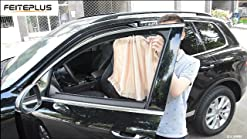 Covers Fully XL//Car Windows Sun Shades for SUVs Windows up to 21-22in x 46-50in Car Window Screens for Camping Mesh Shade Socks for Baby 2-Pack