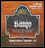 GHS BANJO - Stainless Steel String Set - 5-String - PF175 - Medium Light