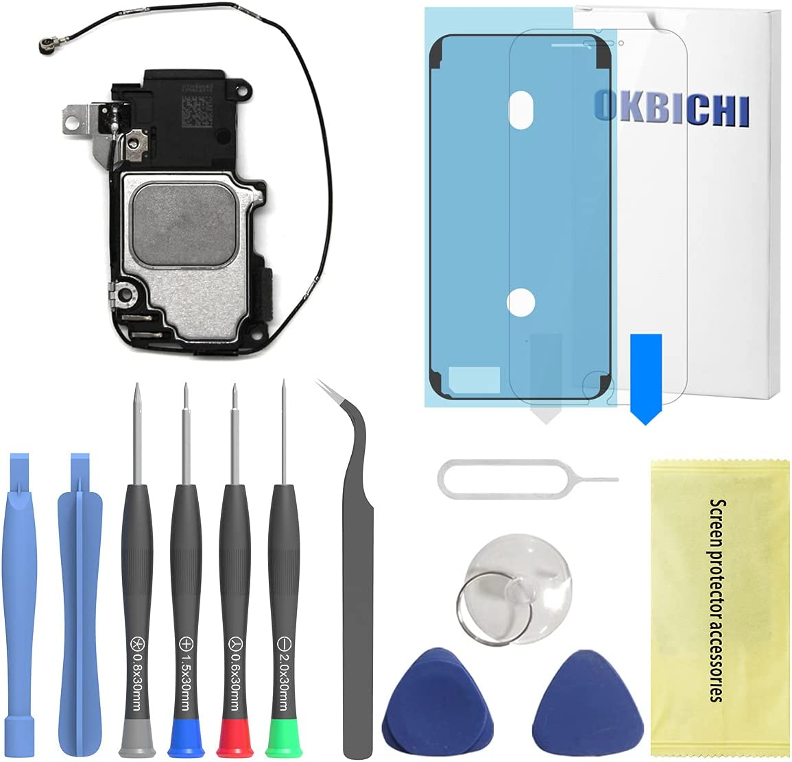 OKBICHI Loud Speaker Replacement for iPhone 6S Ringer Buzzer Flex Cable Assembly - Repair Tools with Screen Protector and Waterproof Seal