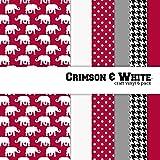 Crimson & White Multi-pack Printed Craft Vinyl 6 Sheets 12x12 for Vinyl Cutters
