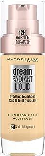 Maybelline New York Dream Radiant Liquid - 21 Nude Beige Foundation Geschikt voor de Droge Huid met Hyaluronzuur 30 ml,