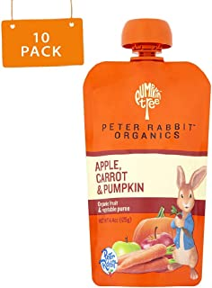 Peter Rabbit Organics Apple, Carrot and Pumpkin Puree, 4.4-Ounce Pouches (Pack of 10)