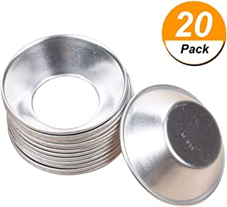 Aluminum Egg Tart Molds, Cupcake Cake Cookie Mold Mini Pie Muffin Pans Pudding Mould Baking Tool Baking Cups (20Pcs)