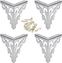 4Pcs Metal Furniture Sofa Legs European Flower Pattern Cabinet Feet Stainless Steel Furniture Hardware Accessories 2 Size ...