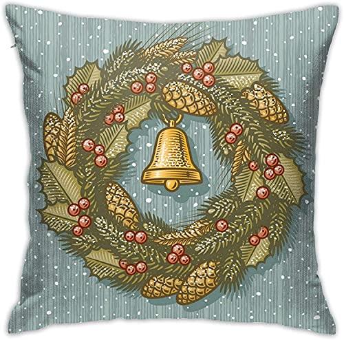 BONRI Throw Pillow Case, Merry Christmas Pillow Cover, Funda de Almohada Decorativa Cojín Cuadrado para sofá Sofá Coche 18x18-Merry Christmas5