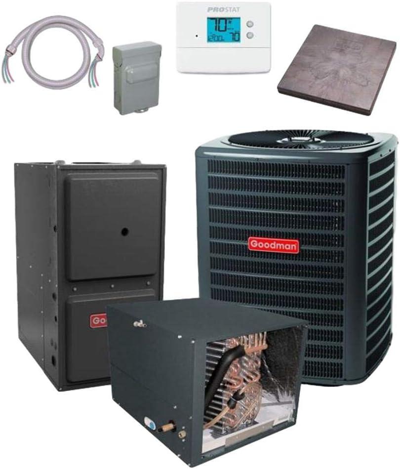 Goodman 2.5 TON 15 SEER Sale special price bundle GSX160301 Air Conditioner CHPF36 Cheap super special price