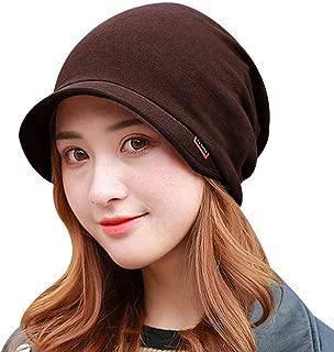 Sun Kea Womens Winter Newsboy Cap Slouchy Lili Beret Hat Solid Multi-Purpose Turban Visor Scarf Face Mask