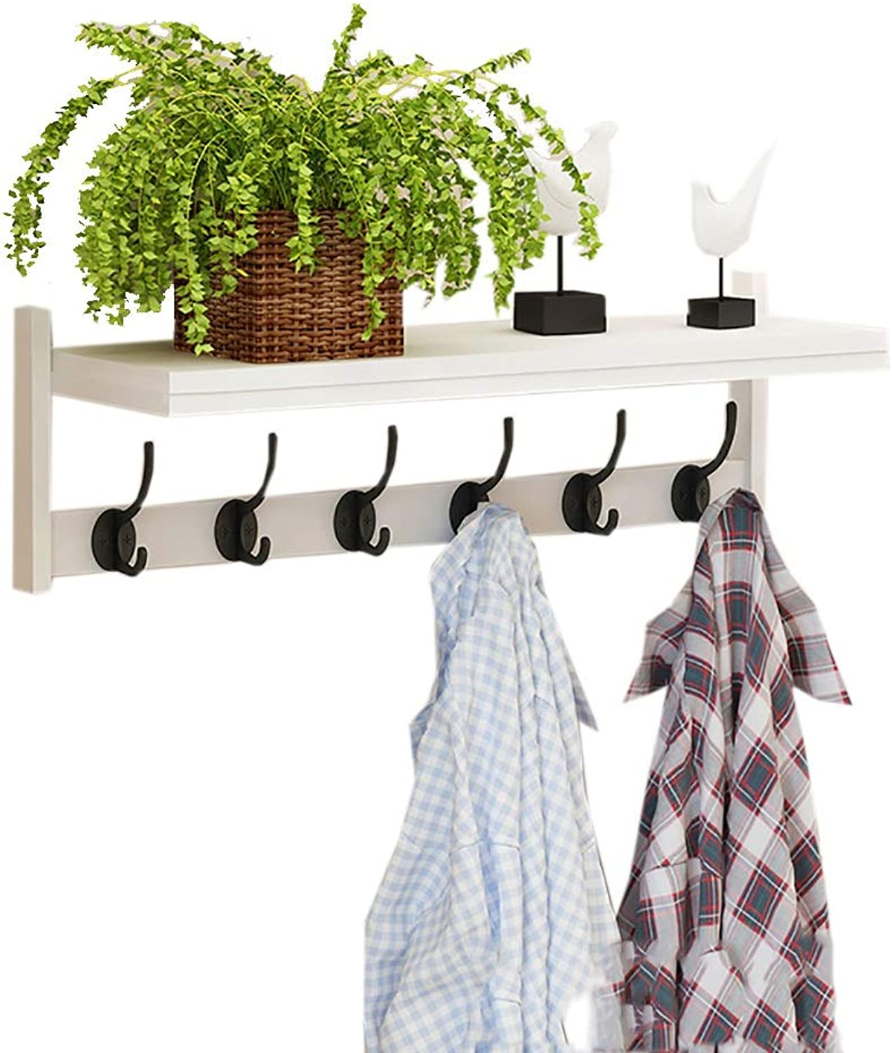 Coat Hook Hanger Wall Hanging Multifunctional Bedroom Coat Rack Living Room Rack Hook (color   A)
