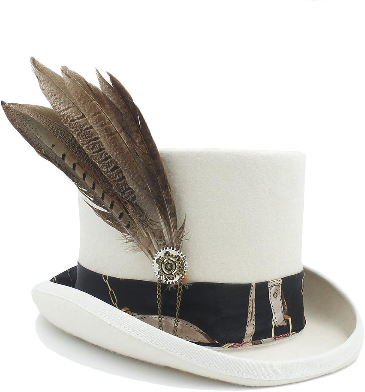 tienda de venta GHC Gorras y Sombreros para Las Las Las Mujeres Wen fodora Steampunk Sombrero con Sombrero de Engranaje ( Color   4 , Talla   55CM )
